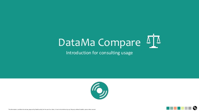DataMa Compare for consulting usage