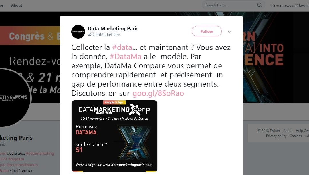 DataMa au salon du Data Marketing