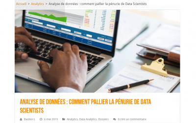 DataMa dans LeBigData.fr comme solution à la pénurie de data scientist