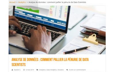 DataMa dans LeBigData.fr comme solution à la pénurie de data scientist